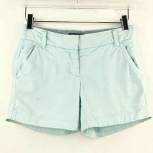 J. Crew 00 Shorts Chino City Fit Mint Green